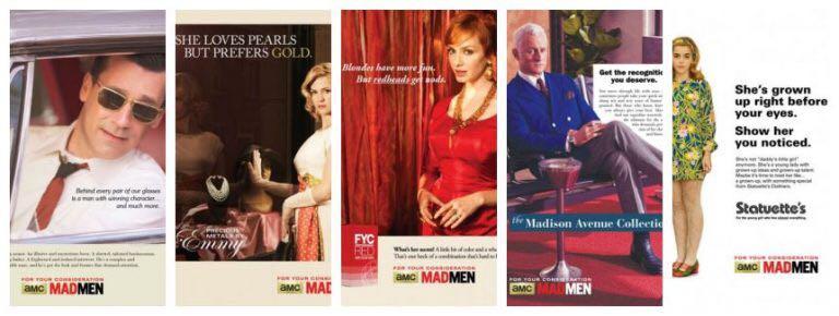 Publicidad de la serie Mad Men