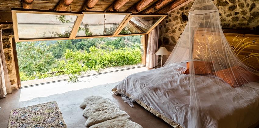 Naturaleza desde la habitación del hotel Ruralka Mar de la Carrasca, en Castellón